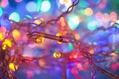 Juldecoaration för elektriska ljus Royaltyfri Fotografi