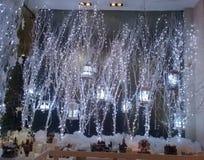 Juldekorer och ljus royaltyfria foton