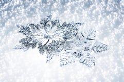 Juldekorsnöflingor Arkivfoto