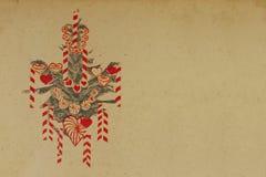 juldekortappning Arkivbild