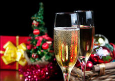 Juldeltagare royaltyfria bilder