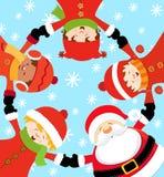 juldeltagare s santa Fotografering för Bildbyråer