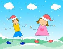 juldeltagaretid stock illustrationer