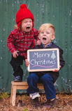 Juldeppigheten Royaltyfri Fotografi