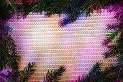 Juldesign - glad jul Rektangulär ram som göras från Arkivbild