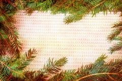Juldesign - glad jul Rektangulär ram som göras från Arkivfoton