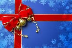 Juldesign med blå bakgrund Royaltyfri Bild