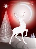 Juldesign med renen royaltyfri illustrationer