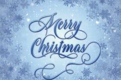Juldesign med snöflingagränsen Arkivbilder