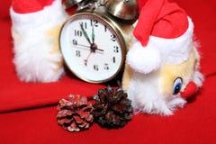 Juldesign på den röda bakgrunden Royaltyfri Bild
