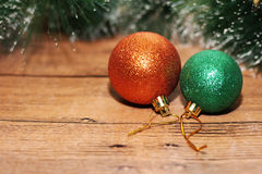 Juldesign på träbakgrunden Royaltyfri Fotografi