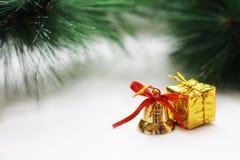 Juldesign på vit bakgrund Royaltyfri Fotografi