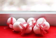 Juldesign på vit bakgrund Royaltyfri Bild