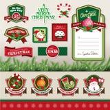 Juldesignbeståndsdelar Arkivbild