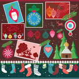Juldesignsamling Arkivbilder