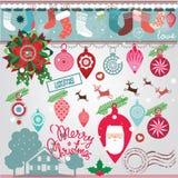 Juldesignsamling Arkivfoton