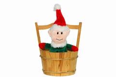 Juldocka på vit bakgrund, julsouvenir - X'MAS Doll som isoleras på vit bakgrund Arkivbilder