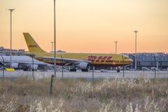 Jule 2013, Aircraft at the airport, Barajas - Madrid Stock Photos