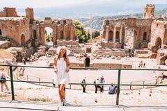 Jule 04, 2018 Taormina Italien royaltyfri bild