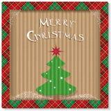 Julecobakgrund med trädet Arkivfoton