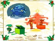 julelakt trollpacke stock illustrationer