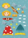 Julen - änglar - illustration Royaltyfri Fotografi