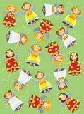 Julen övar för de ljusa barnen - och rolig sida Royaltyfri Bild