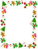 Julen border/ramen Arkivbild