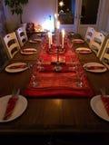 Julen bordlägger Royaltyfria Bilder