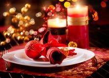 Julen bordlägger inställningen Royaltyfri Foto