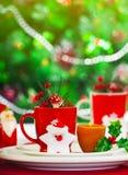 Julen bordlägger inställningen Arkivbilder
