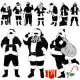julen claus beklär detaljen santa vektor illustrationer
