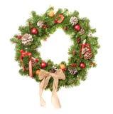 julen dekorerade kranen Royaltyfria Bilder