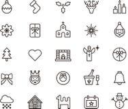 julen dekorerade pälssymbolstreen Royaltyfri Foto