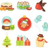 julen dekorerade pälssymbolstreen Royaltyfria Bilder