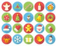 julen dekorerade pälssymbolstreen Arkivbilder
