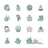 julen dekorerade pälssymbolstreen Fotografering för Bildbyråer