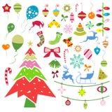 julen dekorerade pälssymbolstreen Arkivbild