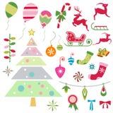 julen dekorerade pälssymbolstreen Royaltyfri Fotografi