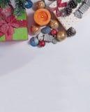 julen dekorerade treen Royaltyfria Foton