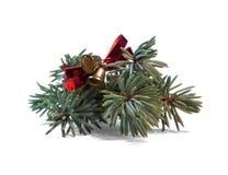 julen dekorerar nya home idéer för garnering till Prydlig filial med den dekorativa klockan fotografering för bildbyråer