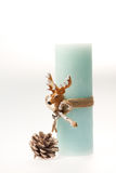 julen dekorerar nya home idéer för garnering till Stearinljus med ett rep Royaltyfri Fotografi