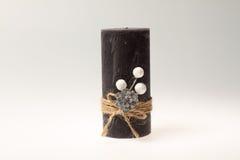 julen dekorerar nya home idéer för garnering till Stearinljus med ett rep Royaltyfria Foton