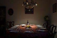 julen dekorerar nya home idéer för matställe till Royaltyfri Bild