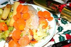 julen dekorerar nya home idéer för matställe till Arkivfoton