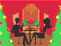 julen dekorerar nya home idéer för matställe till Royaltyfria Foton
