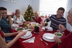 julen dekorerar nya home idéer för matställe till Fotografering för Bildbyråer