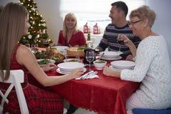 julen dekorerar nya home idéer för matställe till Royaltyfri Foto