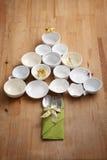 julen dekorerar nya home idéer för matställe till Arkivbild