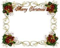 julen för kant 3d inramniner text stock illustrationer